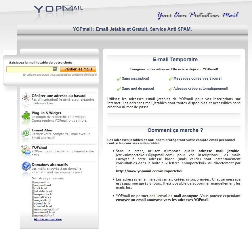 4 Meilleurs sites de service d'email jetable comme YOPmail ...